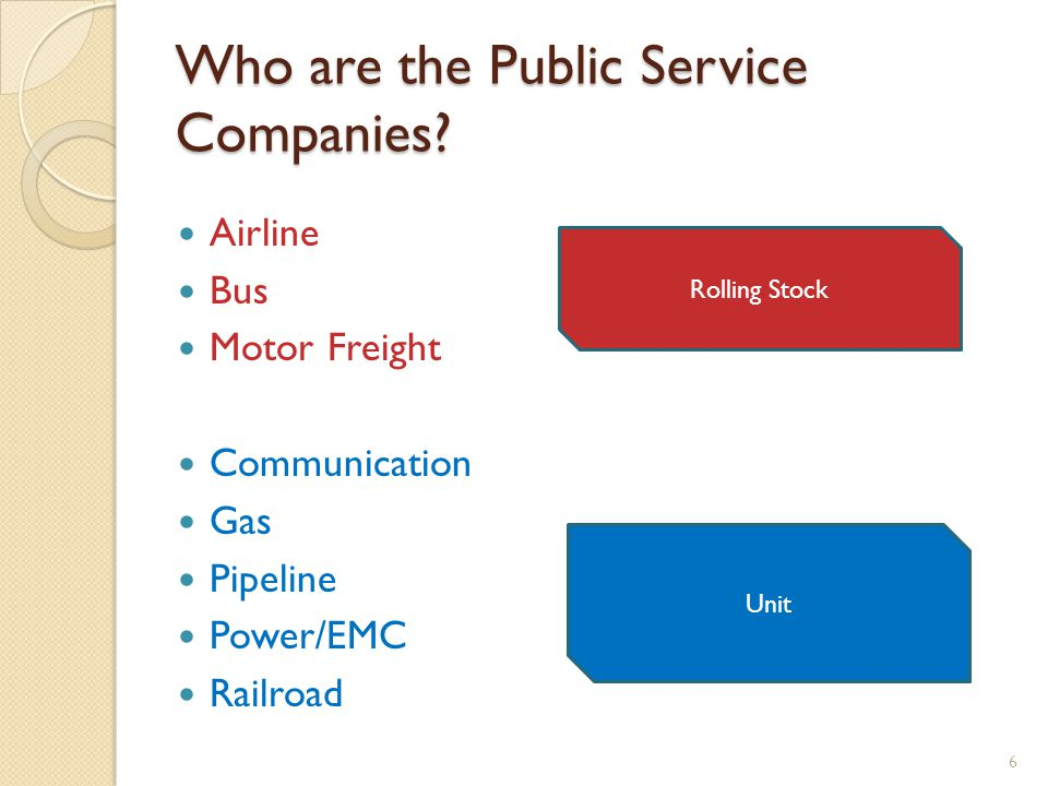 Who are the Public Service Companies.