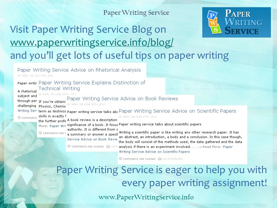 Paper Writing Services Usa