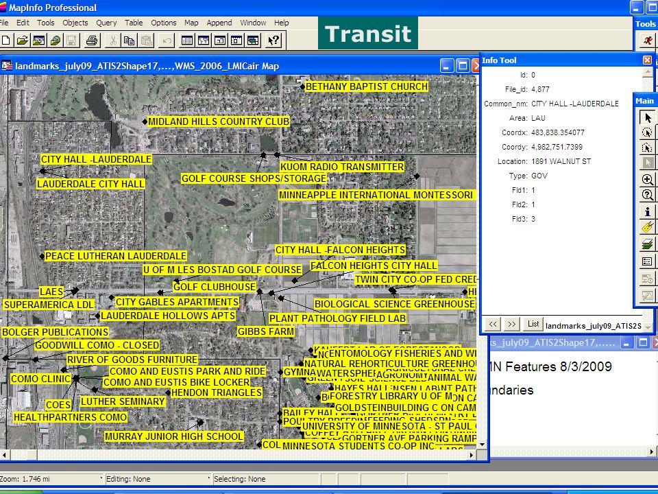 Data: examples Transit