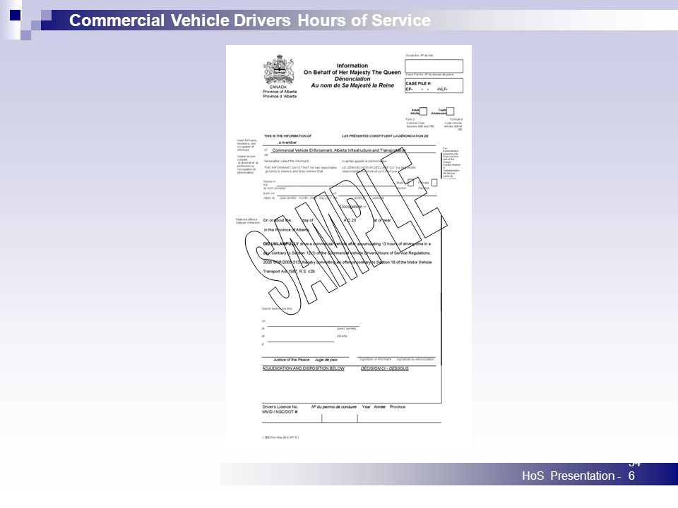 Commercial Vehicle Drivers Hours of Service HoS Presentation -346