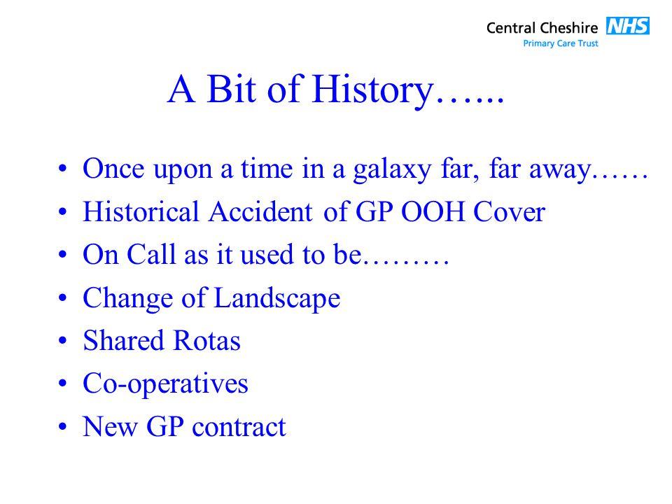 A Bit of History…...