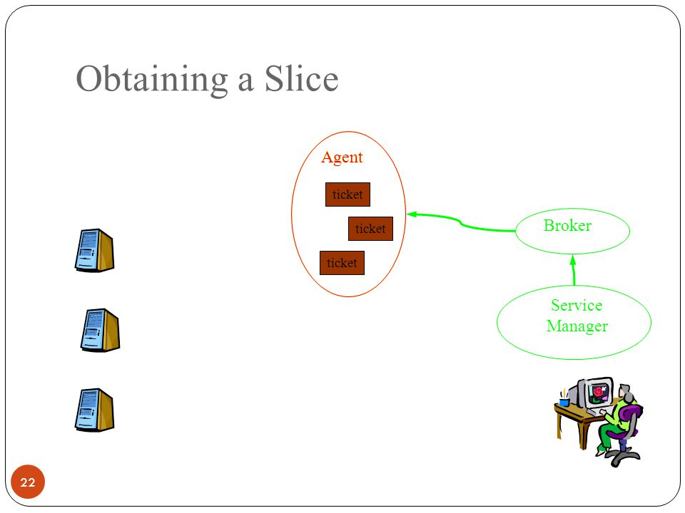 Obtaining a Slice 22 Agent Service Manager Broker ticket Agent