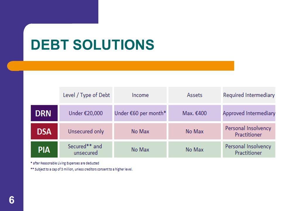 6 DEBT SOLUTIONS
