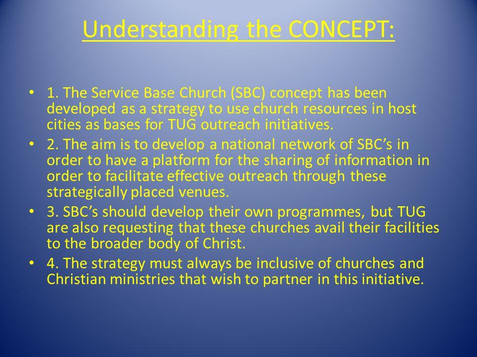 Understanding the CONCEPT: 1.
