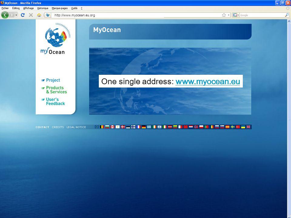 http://www.myocean.eu.org One single address: www.myocean.eu