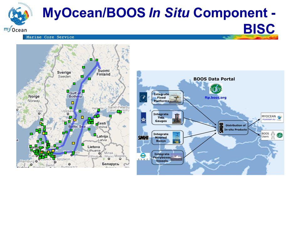 Marine Core Service MyOcean/BOOS In Situ Component - BISC