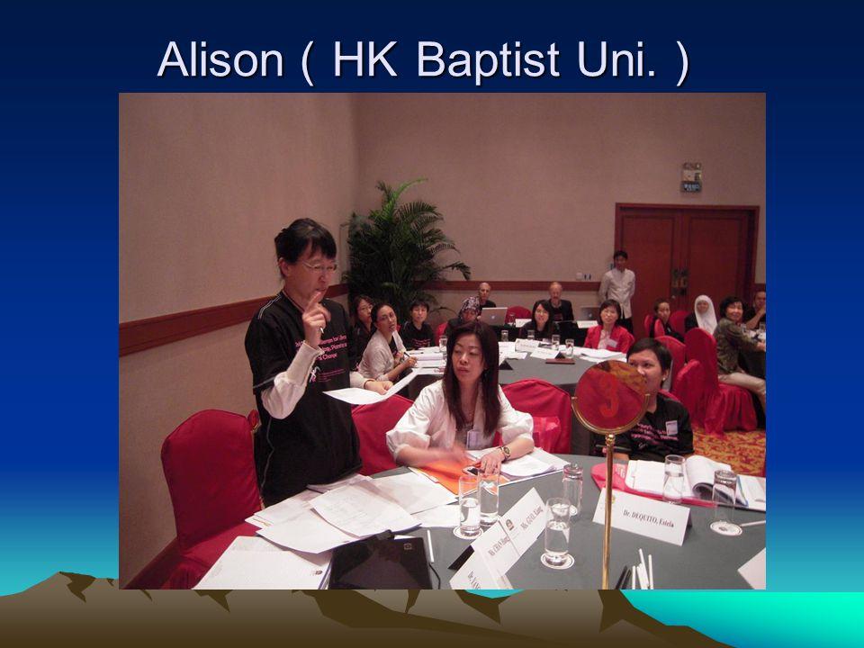 Alison HK Baptist Uni. Alison HK Baptist Uni.