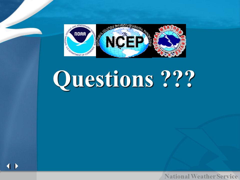 National Weather Service Questions