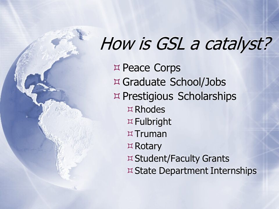 How is GSL a catalyst.