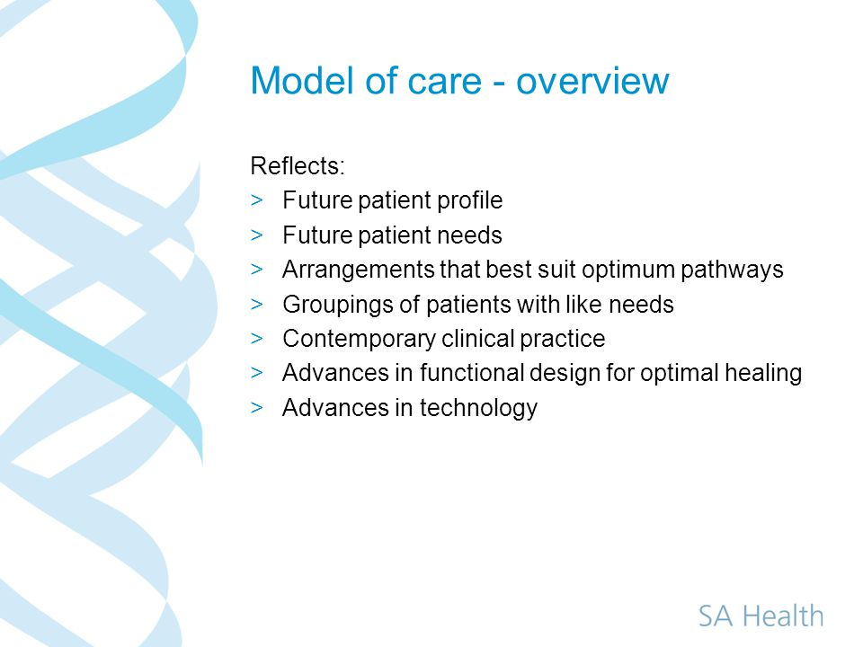 Enhanced roles within new service models >Significant growth in Nurse Practitioner and enhanced nursing roles across: ED, Palliative Care, Geriatric, Cancer, Midwifery, Mental Health, Chronic disease management Exploring potential for other roles in community settings: minor injury illness, allergy, >Exploring enhanced AHP, medical assistant roles.