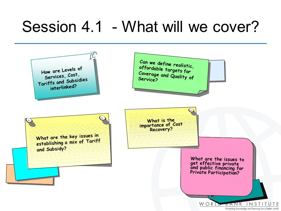 Session 4.1 - What will we cover.