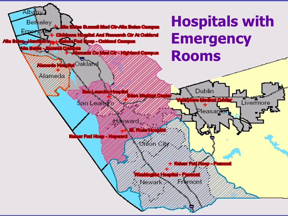 Hospitals with Emergency Rooms