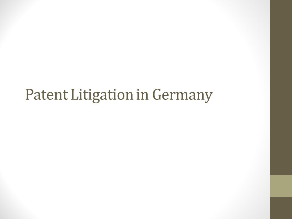 Patent Litigation in Germany