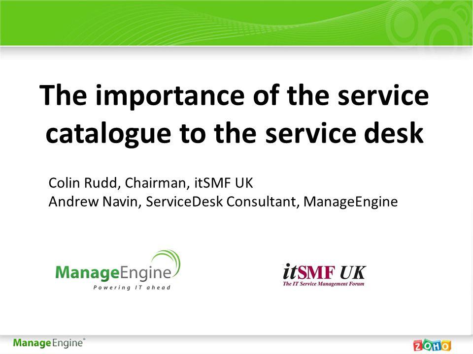 ServiceDesk Plus IT Request Management (Service Catalog) Workflow Multi Level approval (5 stages ) Configure Approval Rules Define SLA (service delivery time) Pre-configure Tasks