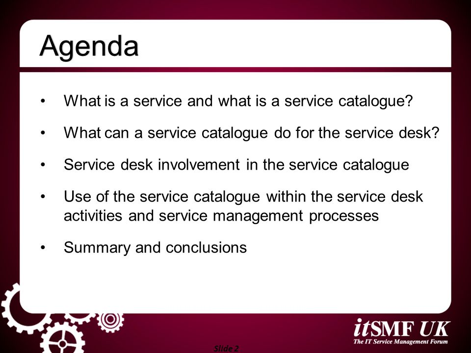 Slide 3 What is a service catalogue?What is a service catalogue.