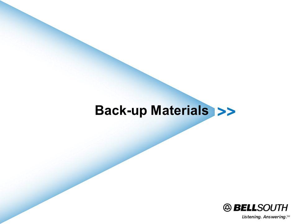 Back-up Materials