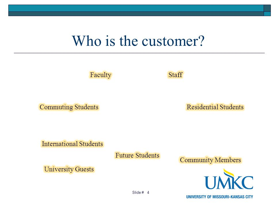 Who is the customer? 4 Slide #