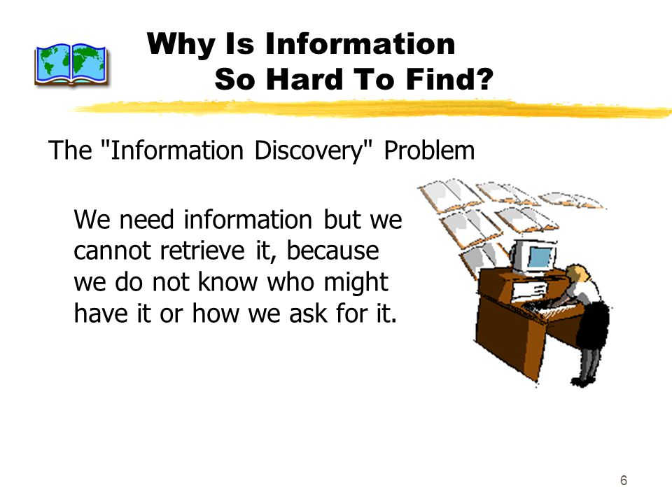 6 Why Is Information So Hard To Find? The