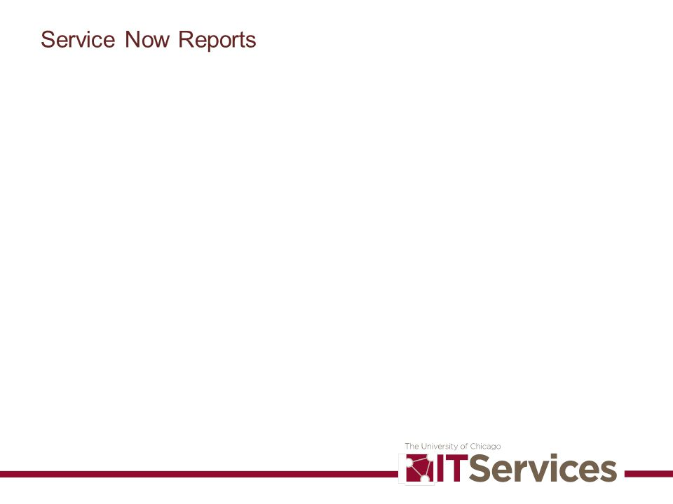 Service Now Reports