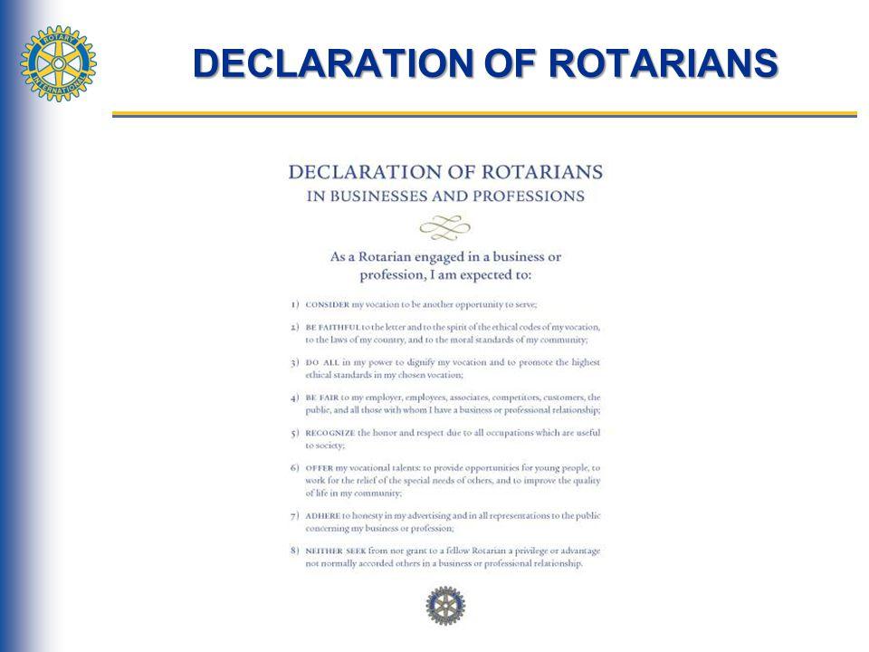 DECLARATION OF ROTARIANS