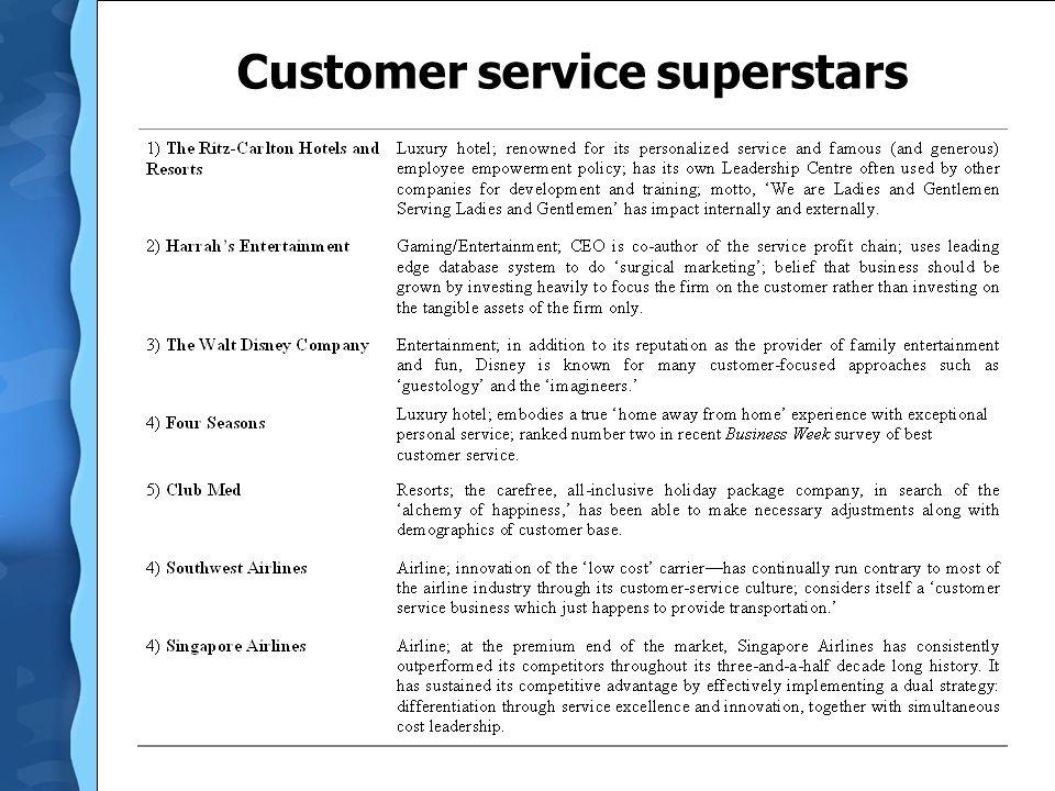 Customer service superstars