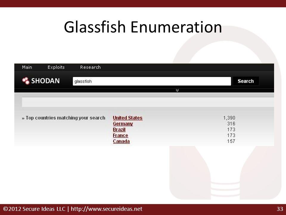Glassfish Enumeration ©2012 Secure Ideas LLC | http://www.secureideas.net33