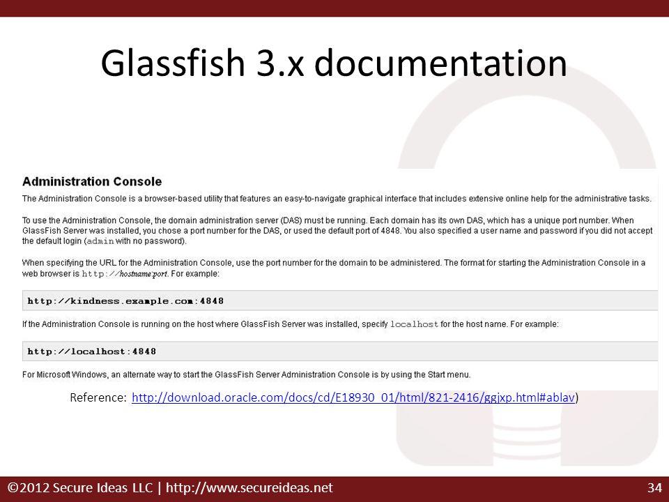 Glassfish 3.x documentation Reference: http://download.oracle.com/docs/cd/E18930_01/html/821-2416/ggjxp.html#ablav)http://download.oracle.com/docs/cd/