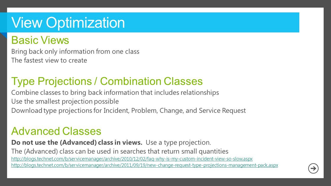 View Optimization