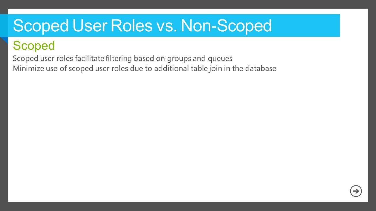 Scoped User Roles vs. Non-Scoped