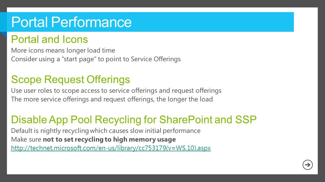 Portal Performance