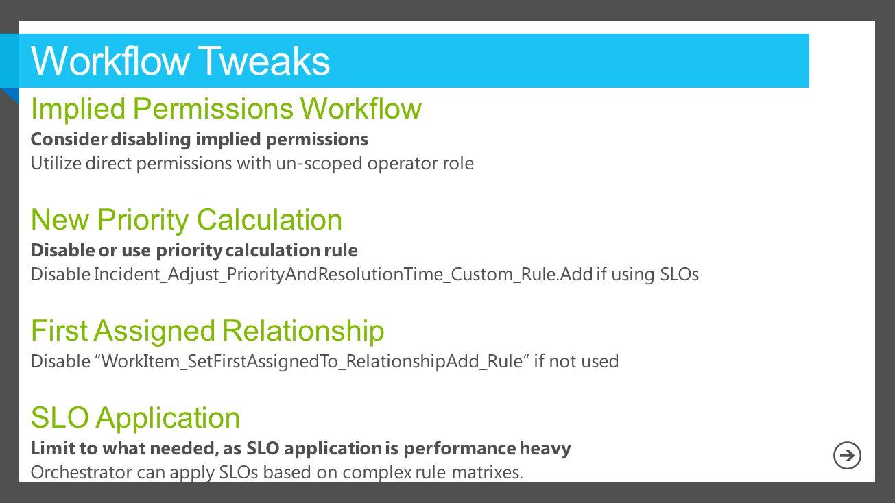 Workflow Tweaks