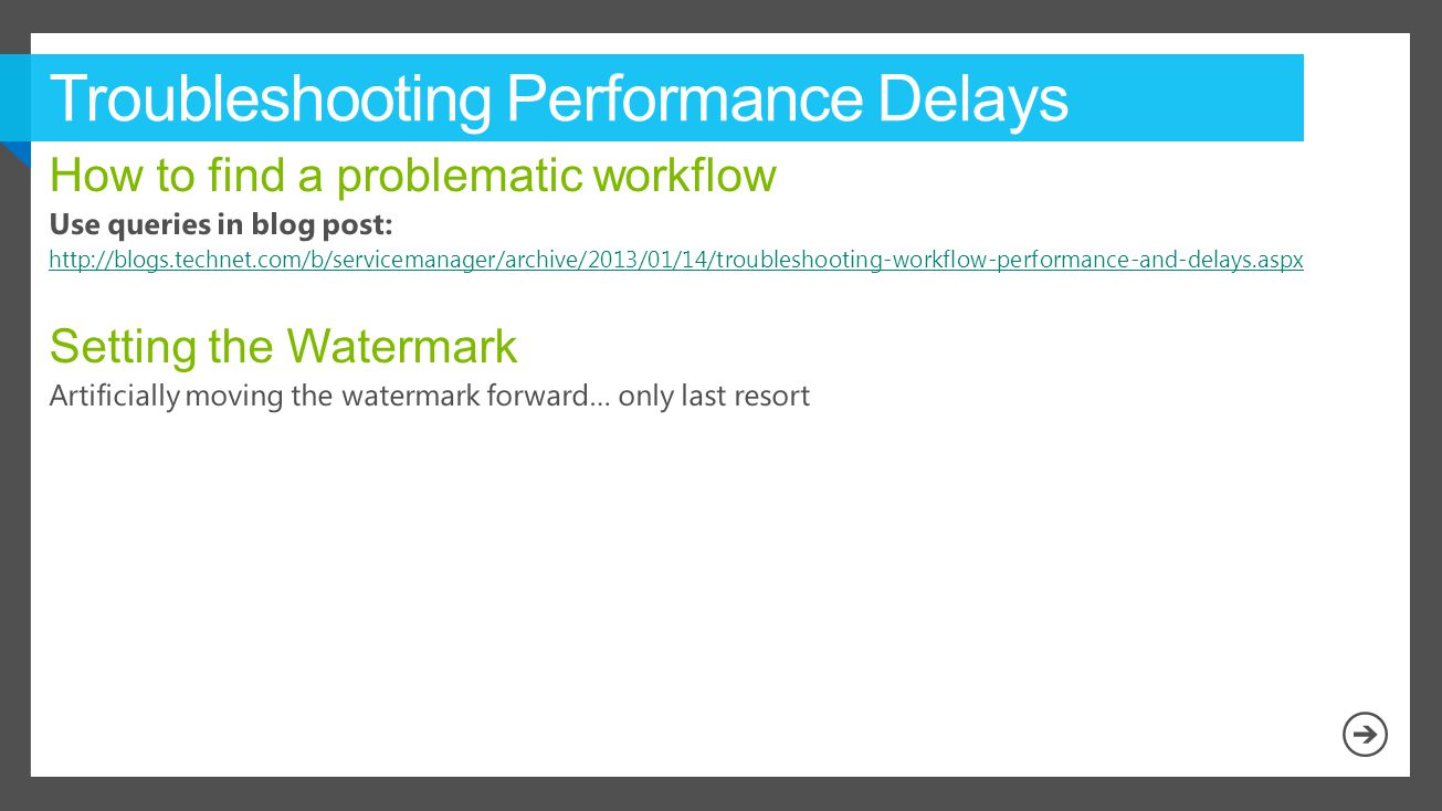 Troubleshooting Performance Delays
