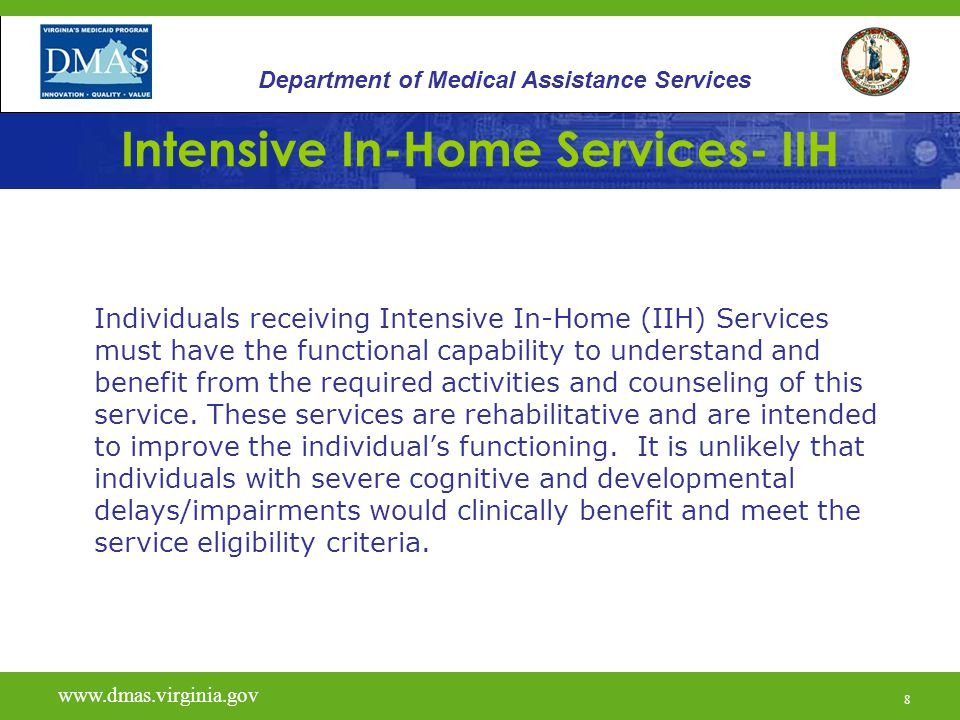 29 Intensive In-Home Services- IIH Service plans must incorporate a discharge plan, which identifies transition from intensive in-home to less intensive or non-home-based services.