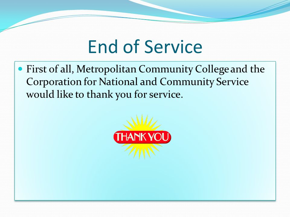 Congratulations. You have successfully completed your Year of Service… Now what.