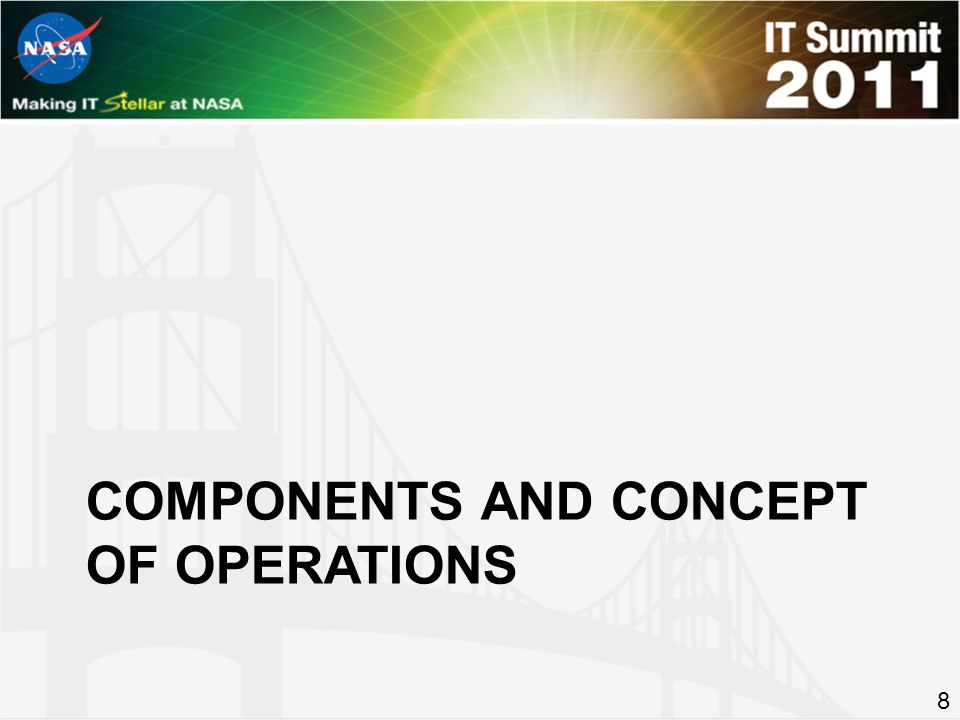 COMPONENTS AND CONCEPT OF OPERATIONS 8