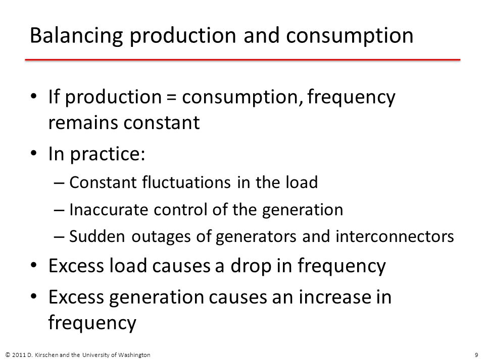 Advantages of demand-side provision Larger number of participants increases competition and lowers cost Better utilization of resources – Example: Providing reserve with interruptible loads rather than partly loaded thermal generating units Particularly important if proportion of generation from renewable sources increases Demand-side may be a more reliable provider – Large number of small demand-side providers © 2011 D.