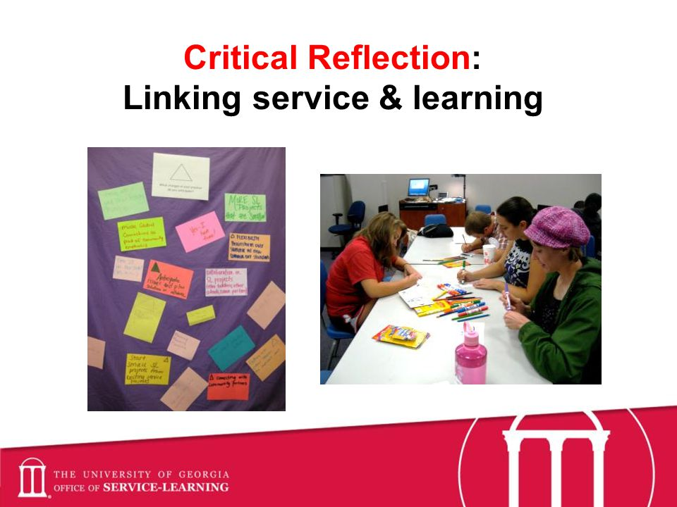 Critical Reflection: Linking service & learning