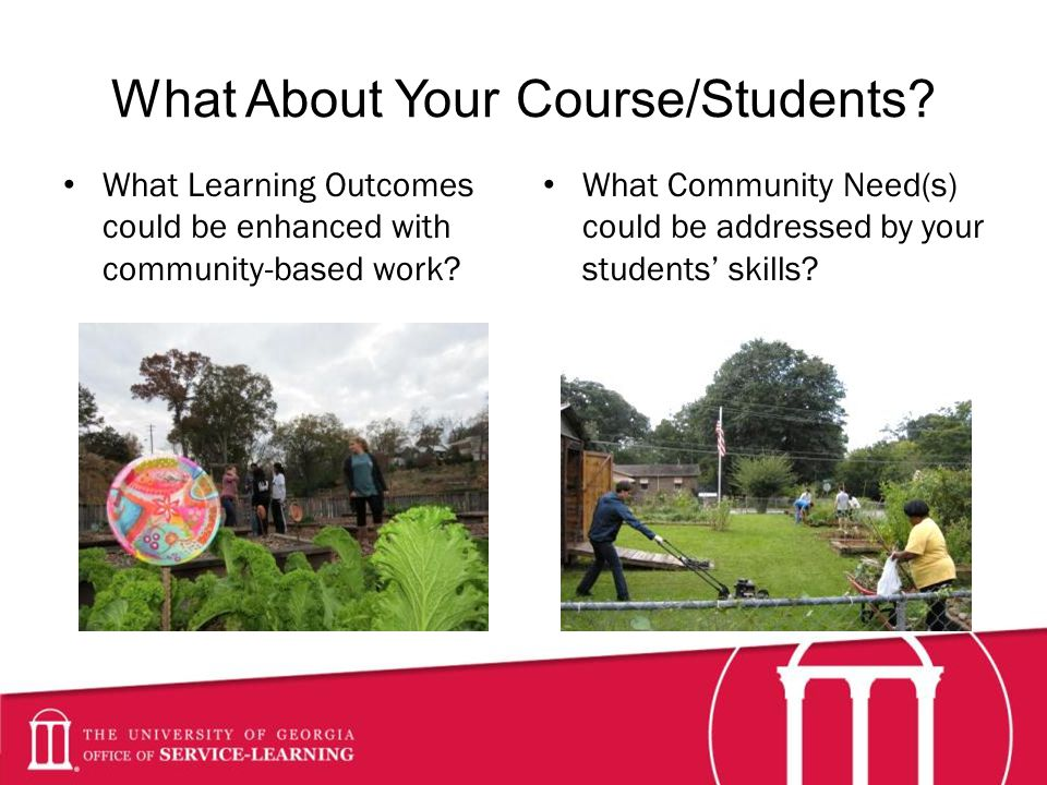 What About Your Course/Students.