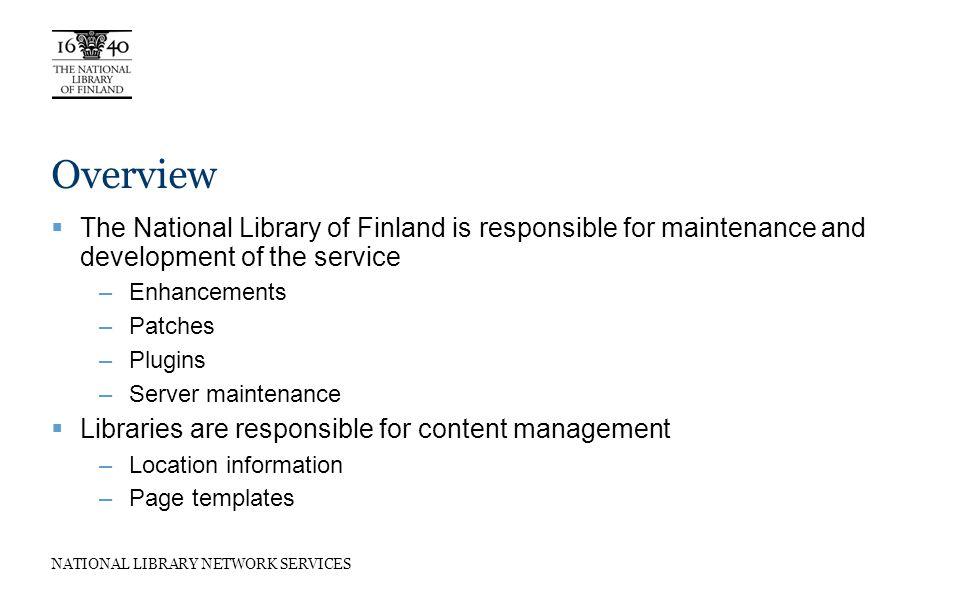 NATIONAL LIBRARY NETWORK SERVICES Implementation ApacheTomcat DB Internet CentOS