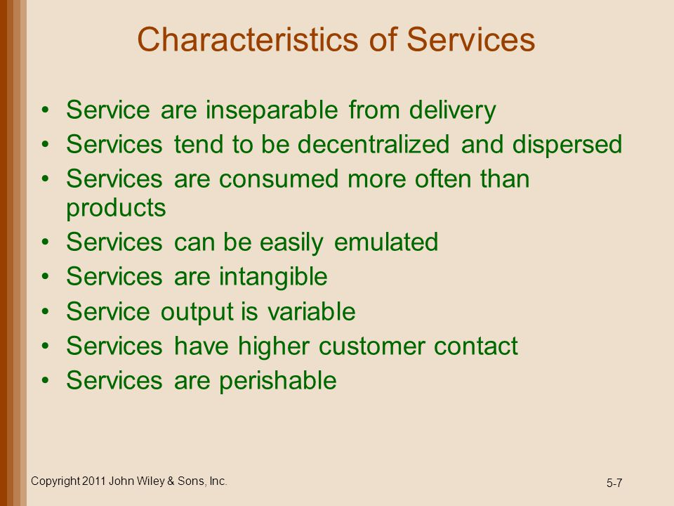 5-8 Service Design Process Copyright 2011 John Wiley & Sons, Inc.