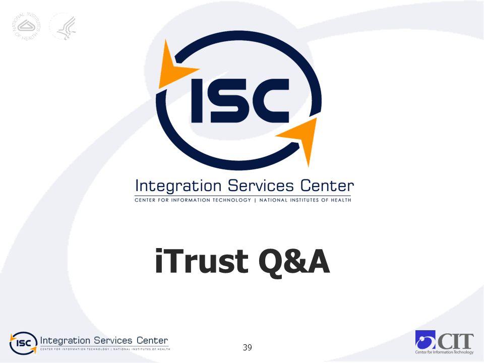 iTrust Q&A 39