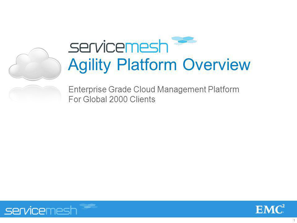 2 EMCs relationship with ServiceMesh ServiceMesh is an EMC Select Partner –Full quota credit and 50% commission for ServiceMesh Agility Platform sales –ServiceMesh fast-tracked into EMC Select to address market demand for an enterprise cloud management platform Strong advocacy from EMC Consulting –Tom Roloff and Ted Newman Proven success story –EMC brought ServiceMesh in to revive the Visa Vblock engagement, resulting in $48M order saved by ServiceMesh Agility Platform –Agility Platform is certified as VCE Vblock Ready