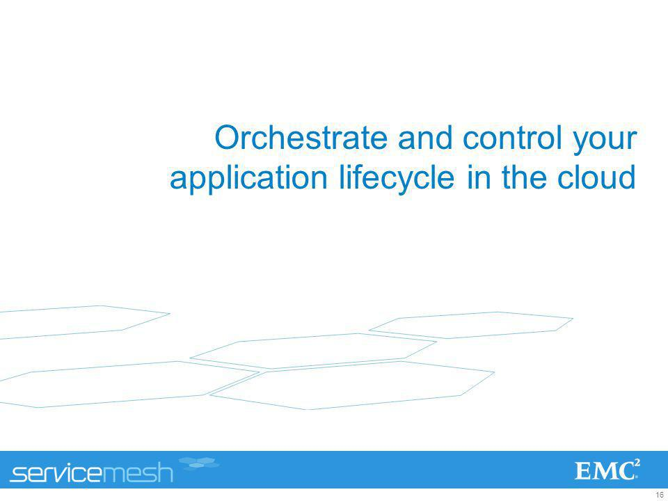 16 Orchestrate and control your application lifecycle in the cloud