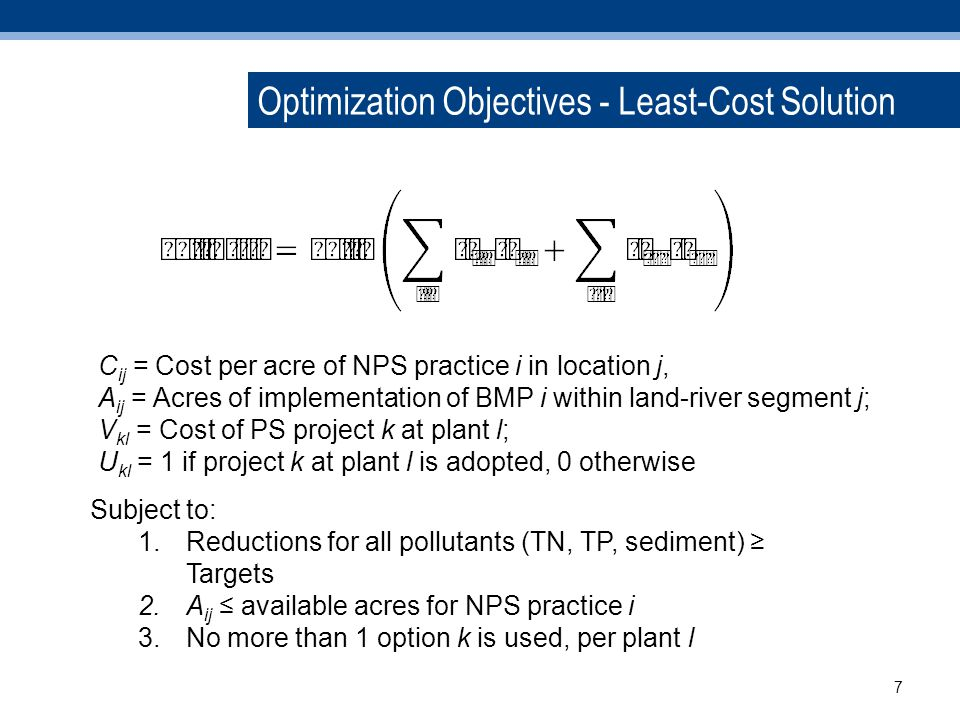 Costs, Co-Benefits and Net Costs Costs of Control Projects Ecosystem Service Co- Benefits Net Costs 8