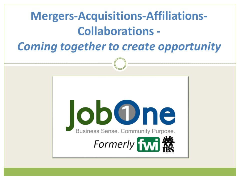 Mergers-Acquisitions-Affiliations- Collaborations - Coming together to create opportunity