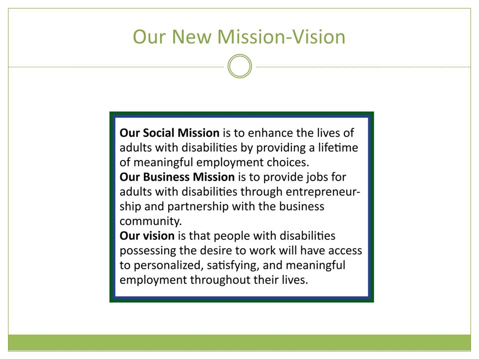 Our New Mission-Vision