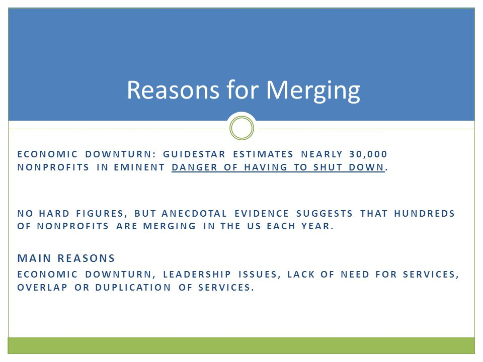 Rubber meets the road An insightful video of successful nonprofit mergers and acquisitions http://vimeo.com/20262598