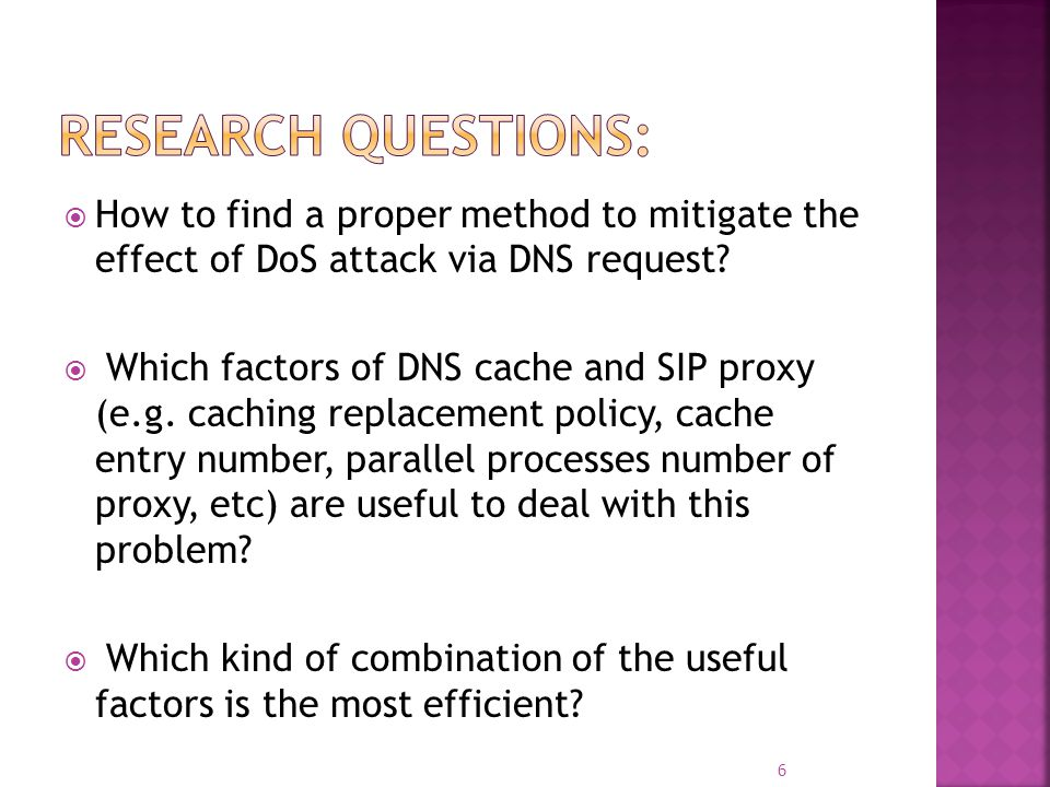 Introduction Background Scope of The Attack Testbed Setup DNS Attacks on SIP Proxies Non-Blocking Cache Design Conclusion and Future Work 7