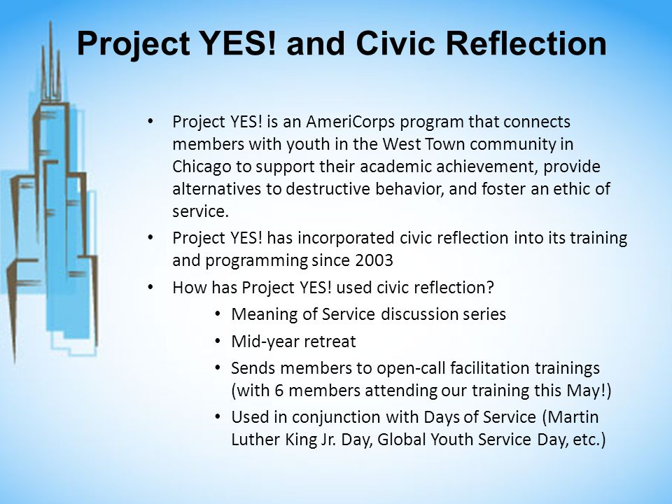Project YES. and Civic Reflection Project YES.