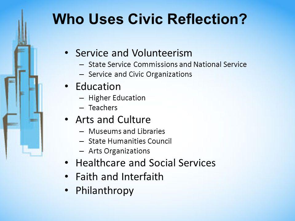 Who Uses Civic Reflection.